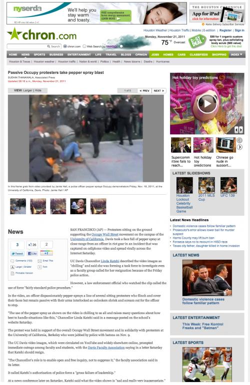 Chron.com story, 2011